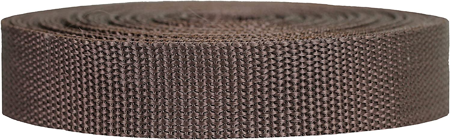 Strapworks Heavyweight Polypropylene Webbing - Heavy Duty Poly Strapping for Outdoor DIY Gear Repair, 1 Inch by 10, 25, or 50 Yards, Over 20 Colors