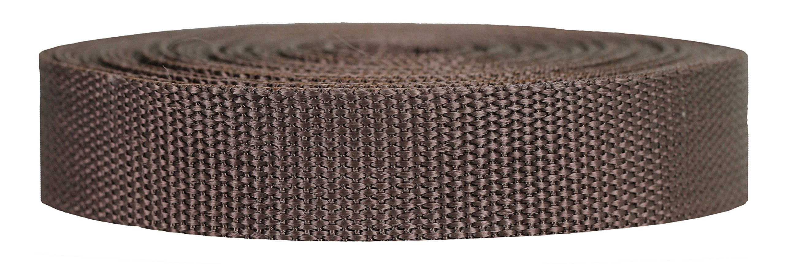 Strapworks Heavyweight Polypropylene Webbing - Heavy Duty Poly Strapping for Outdoor DIY Gear Repair, 1 Inch x 10 Yards - Brown