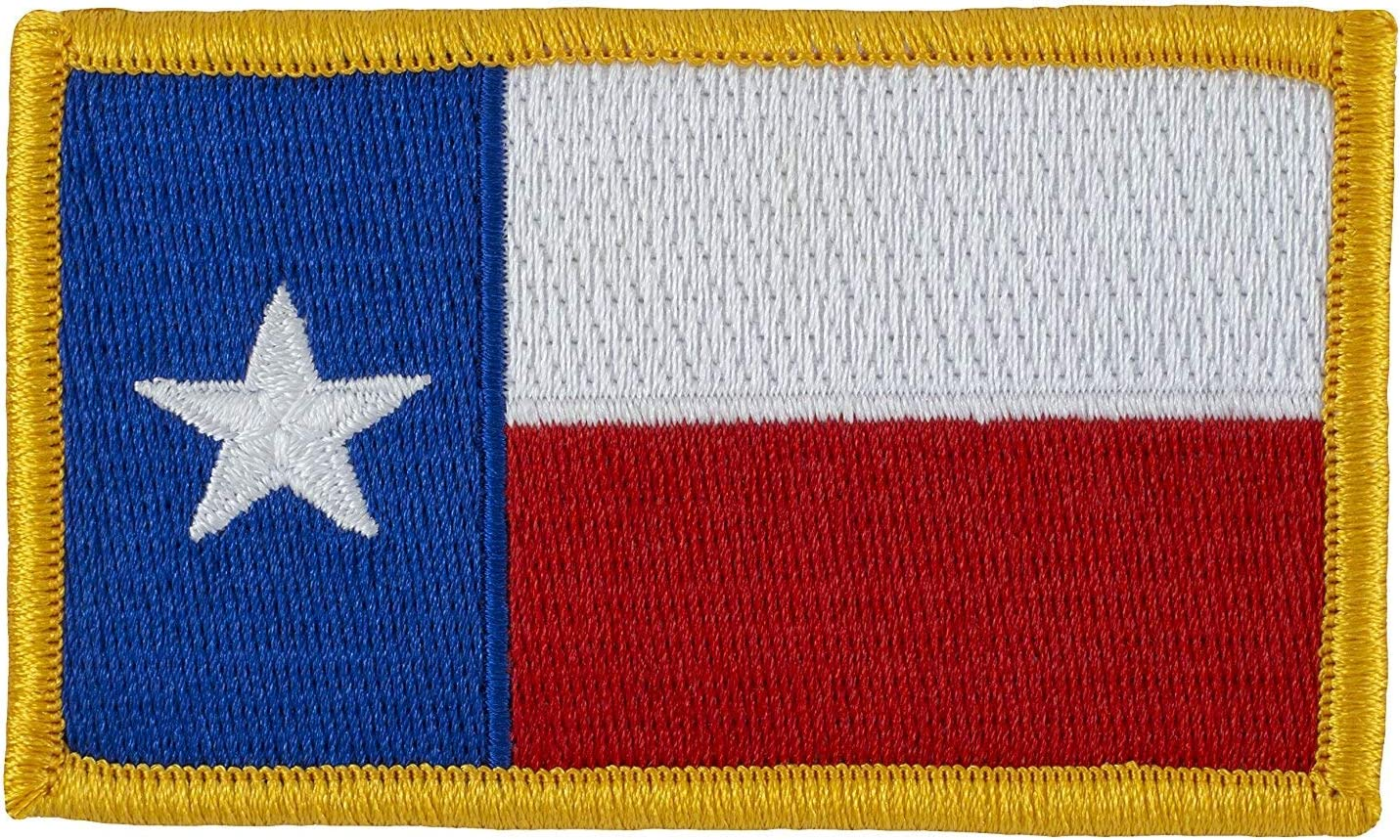 Tactical Texas Estado Bandera Parche (con velcro) hacia adelante a todo color 2