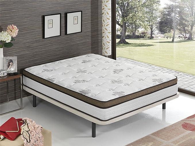 Living Sofa COLCHÓN COLCHONES VISCOELASTICO VISCOELASTICA con Muelle EMBOLSADO Premium 135 x 190 (Todas Las Medidas)