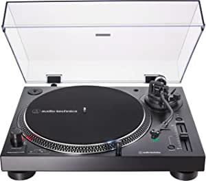 Audio-Technica AT-LP120XUSB-BK Direct-Drive Turntable (Analog & USB), Fully Manual, Hi-Fi, 3 Speed, Convert Vinyl to Digital, Anti-Skate and Variable Pitch Control