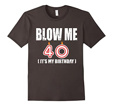 Mens Happy 40th Birthday T Shirt Fourty Years OLD Gift 2XL Asphalt