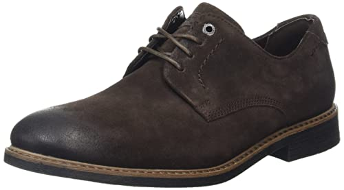 RockportDressports Modern Captoe - Zapatos Planos con Cordones Hombre, Color Marrón, Talla 40.5