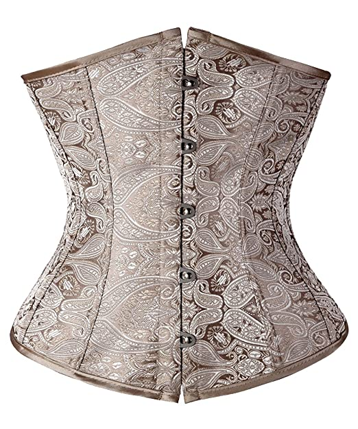 c2dfe4ee96 Image Unavailable. Image not available for. Color  FLORATA Women Waist  Training Cincher Underbust Corset Body Shaper ...