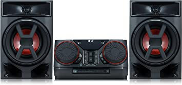 LG XBOOM CK43 - Equipo de Sonido de Alta Potencia (Potencia 300 W, Bluetooth, USB Dual, Entrada