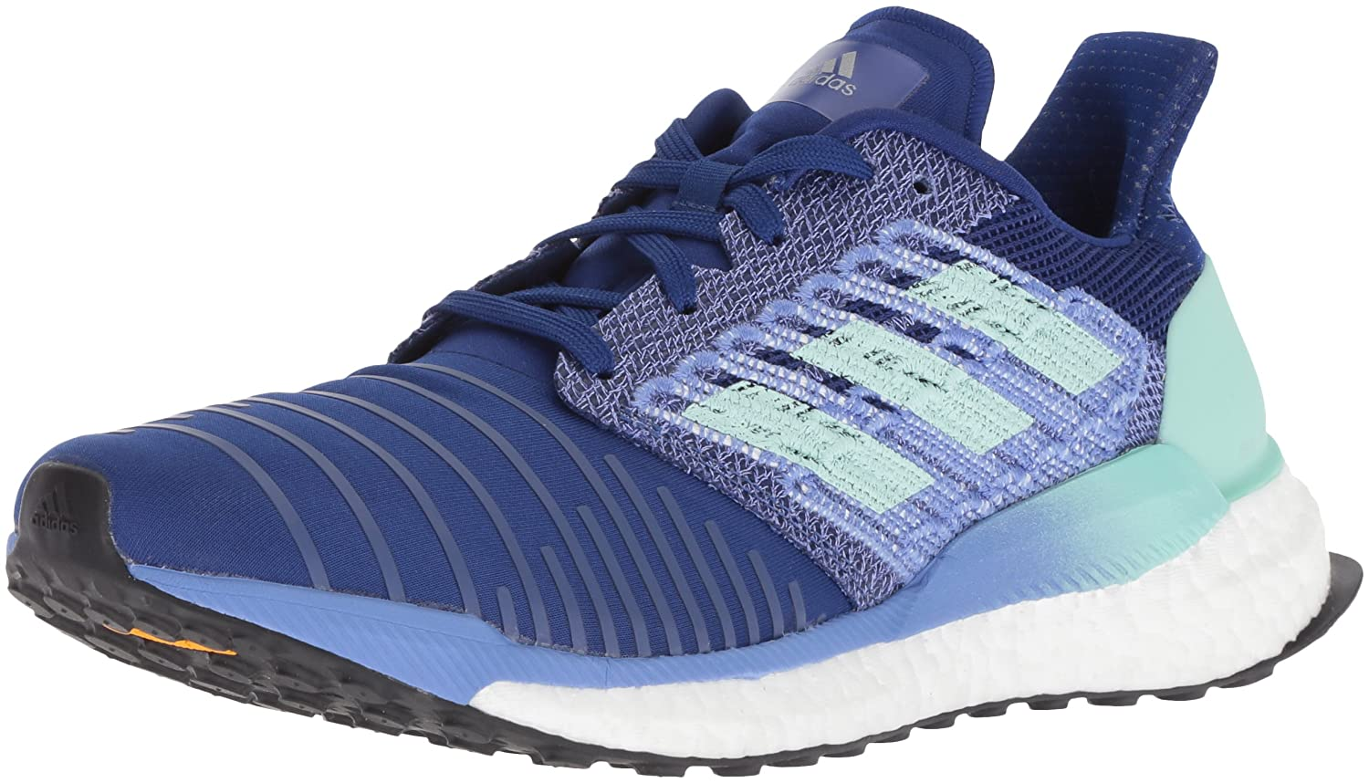 adidas Women's Solar Boost Running Shoe B07D9F181P 5.5 B(M) US|Ash Grey/Onix/Yellow