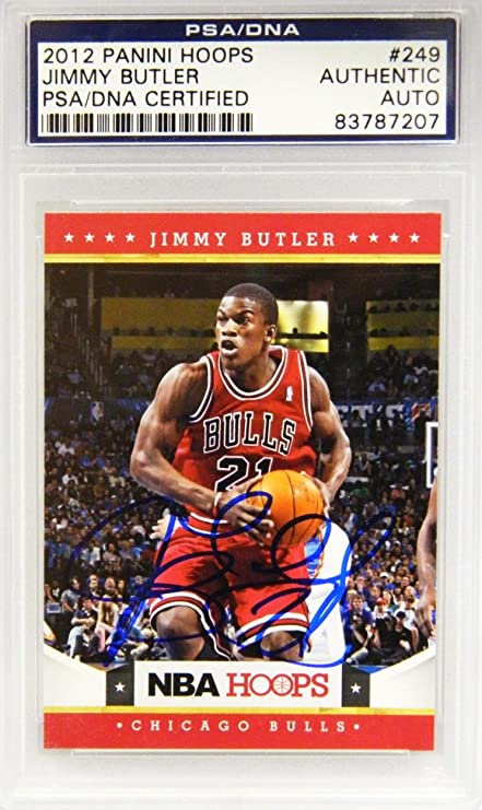 Jimmy Butler Signed Chicago Bulls 2012 Panini Hoops Rookie Card  249 -  PSA DNA de4ca4fc6