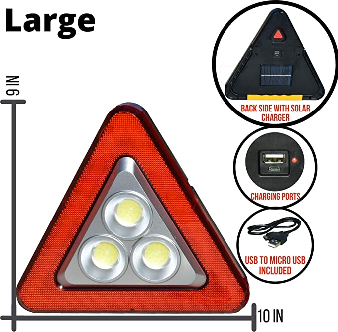 Triangle Cob Led Work Light Red Light Pack Of 10