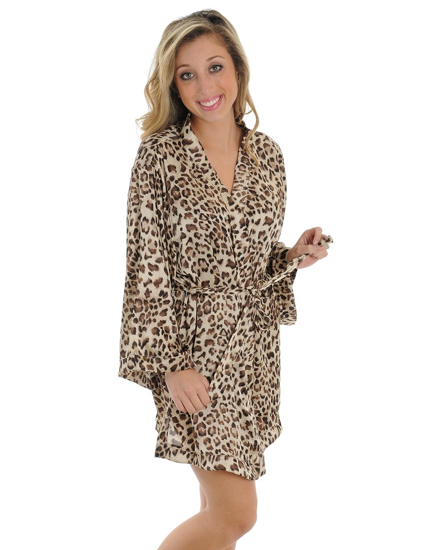 Amazon animal print robe wrap leopard print sleepwear great amazon animal print robe wrap leopard print sleepwear great gift idea sizes small clothing ombrellifo Choice Image