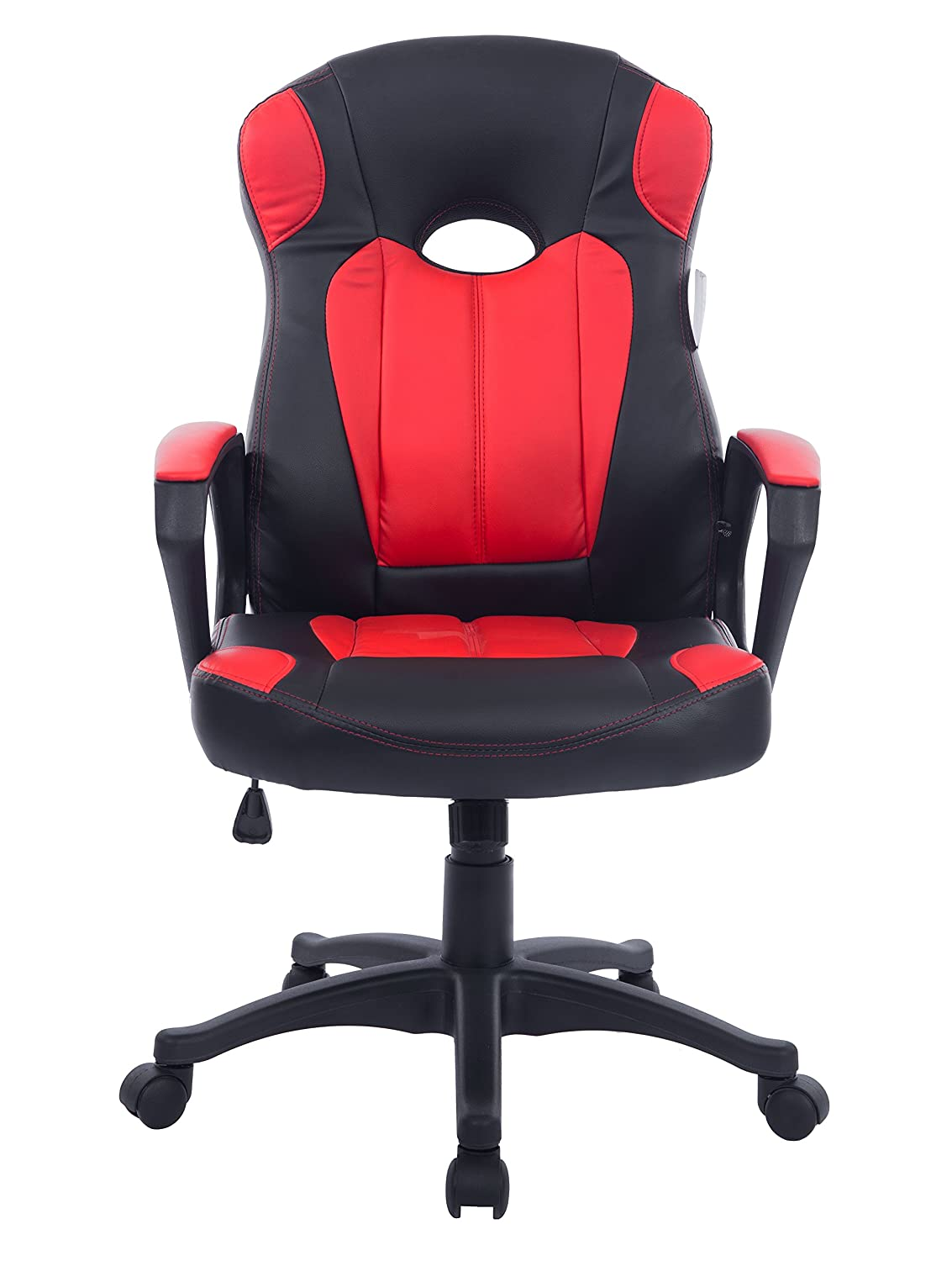 office chairs images. cherry tree racing gaming style pu leather swivel office chair in 2 colours red amazoncouk products chairs images v