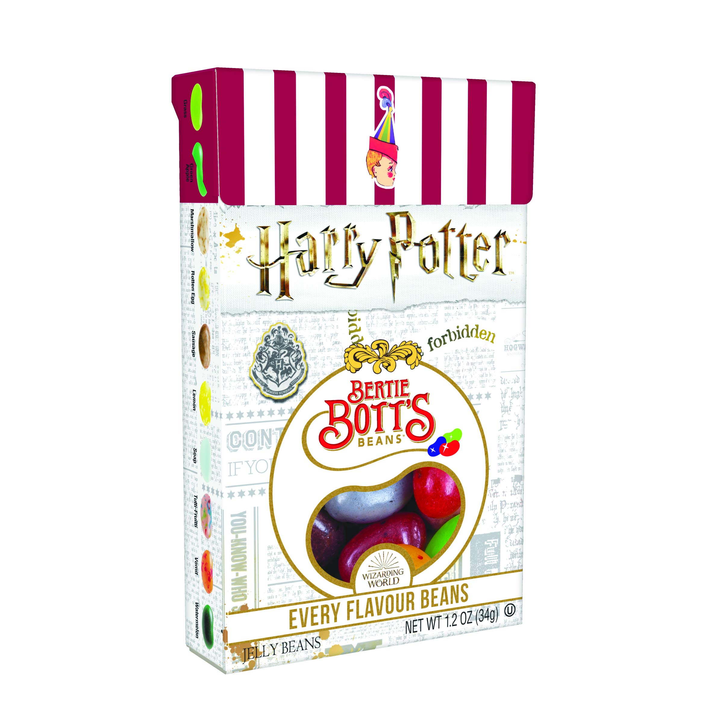 Jelly Belly Harry Potter Bertie Bott's Every Flavor Jelly Beans, 1.2-oz, 48 Pack