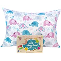 "Toddler Pillowcase - Made for Little Sleepy Head Toddler Pillow 13 X 18 - 100% Cotton - Naturally Hypoallergenic - Made in USA! (Elephants, 13""x18"")"