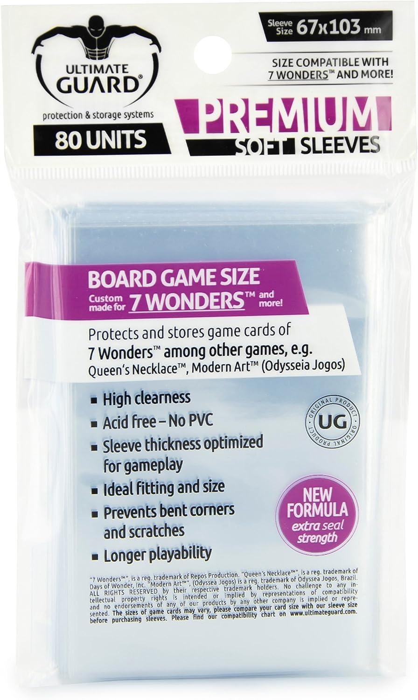 Ultimate Guard 10278 Êltimo Guardia Premium Fundas para Juego de Mesa Tarjetas 7 Maravillas? (80) de la Guardia último: Amazon.es: Juguetes y juegos