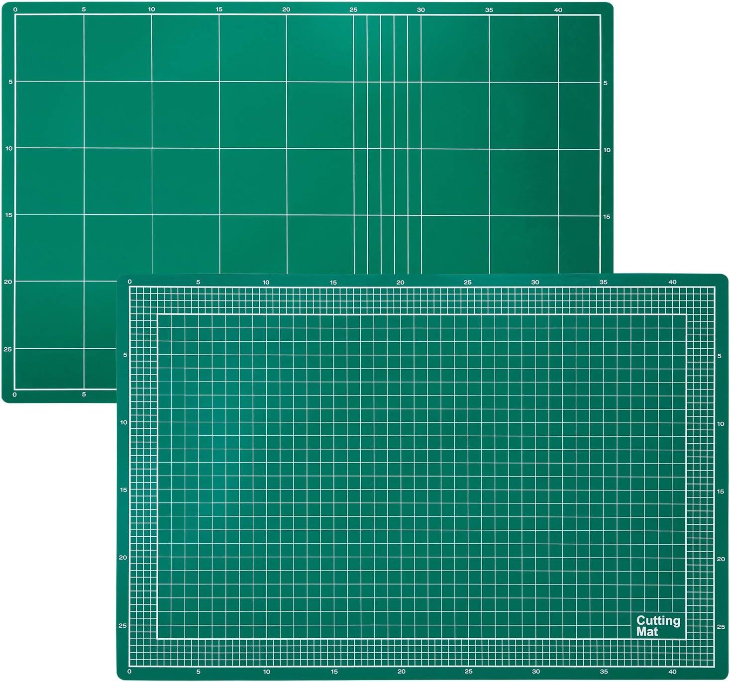 AmazonBasics Estera de corte de PVC de 3 capas, verde, 45 x 30 cm ...
