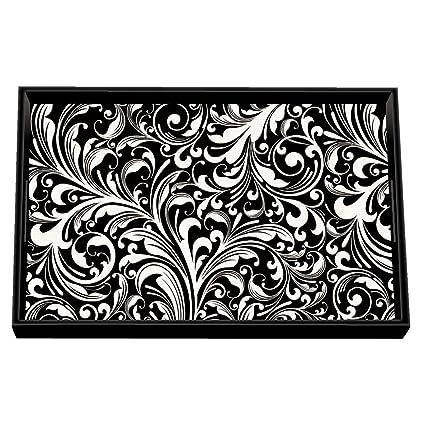 Michel Design Works negro Florentine Vanity Decoupage bandeja de madera