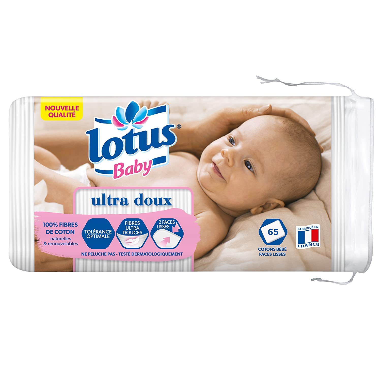 Lotus Baby 65 piezas paquete de 5 Cuadrados sensibles para beb/é