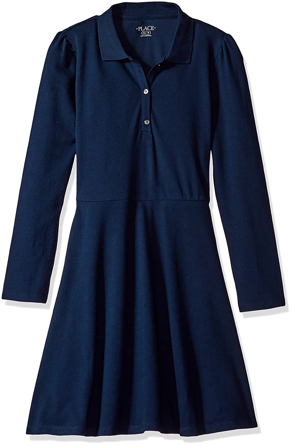 The Children's Place Girls' Uniform Long Sleeve Polo Dress