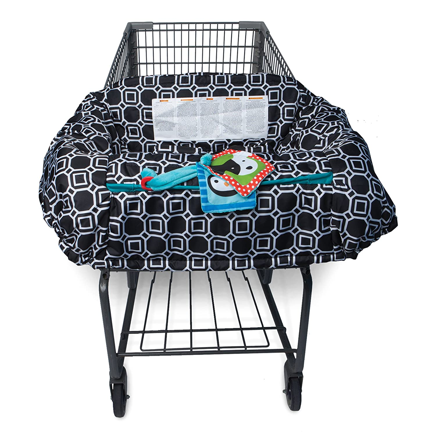 Boppy Shopping Cart and High Chair Cover, City Squares Black and White 7300477K 3PK