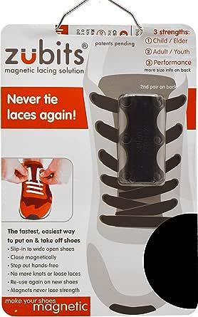 Zubits Magnetic Shoe Closures Unisexe Never Tie Laces Again 2 /& 3 en 12 couleurs diff/érentes ORIGINAL 2.0 ! Tailles 1
