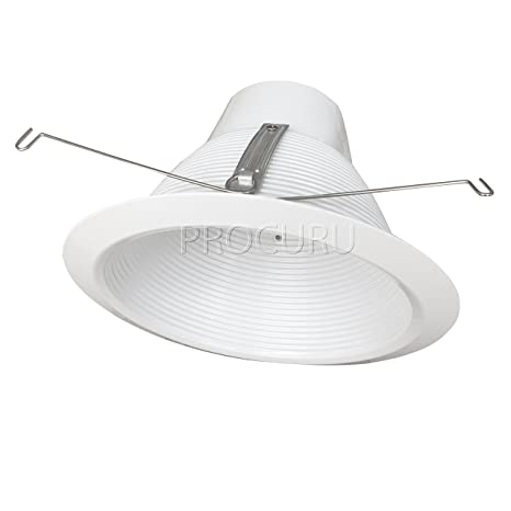 Procuru 6 recessed can light trim solid steel metal step baffle procuru 6 recessed can light trim solid steel metal step baffle cone style white air tight aloadofball Image collections
