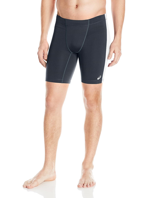 (Large, Steel Grey/White) - ASICS Men's Enduro Short   B01BL18ZUI