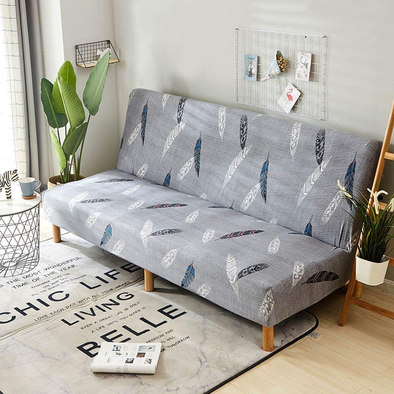 Amazon.com: Stretch Sofa Bed Cover No Armrest Folding Sofa ...