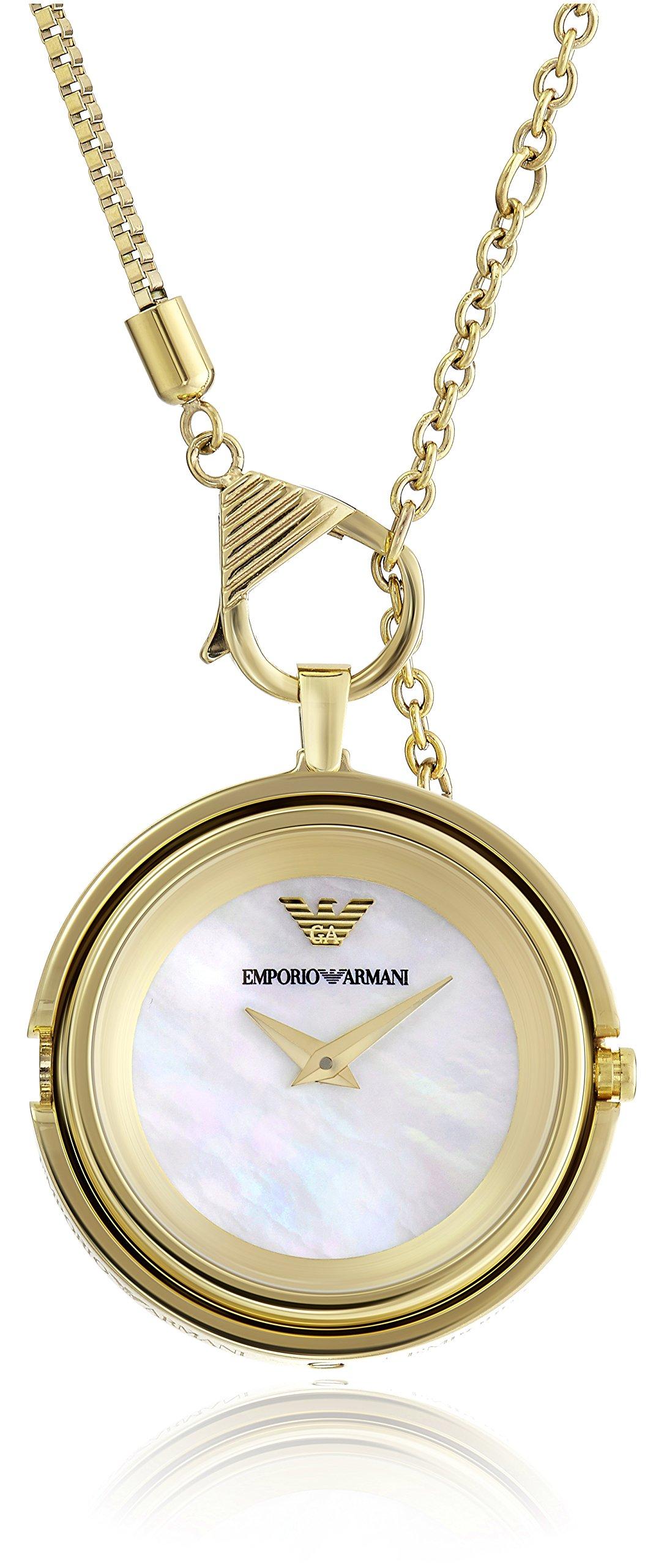 Emporio Armani Women's AR7387 Fashion Gold Watch Necklace