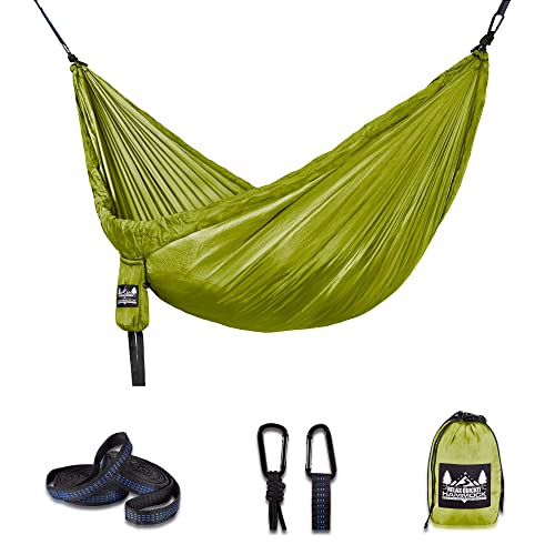 Better Outdoor Supply Hammock Camping Kit Single Double with Tree Straps – Durable – Lightweight – Used for- Relaxing Indoor Outdoor-Travel Portable Multiple Colors