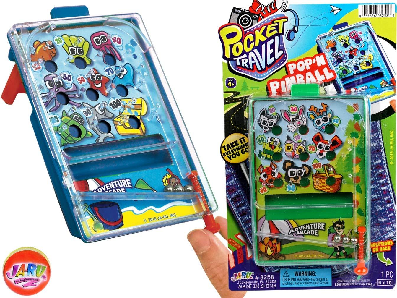 JA-RU Pinball Pocket Travel Game (144 Units) and one Bouncy Ball Item #3258-144p by JA-RU (Image #5)