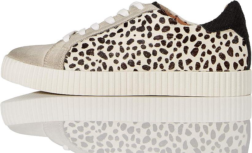 Animal Print Suede Low-Top Sneakers