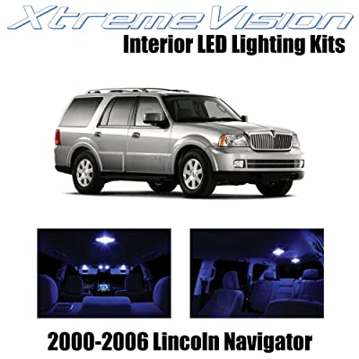 Xtremevision Interior LED for Lincoln Navigator 2000-2006 (6 Pieces) Blue Interior LED Kit + Installation Tool: Automotive