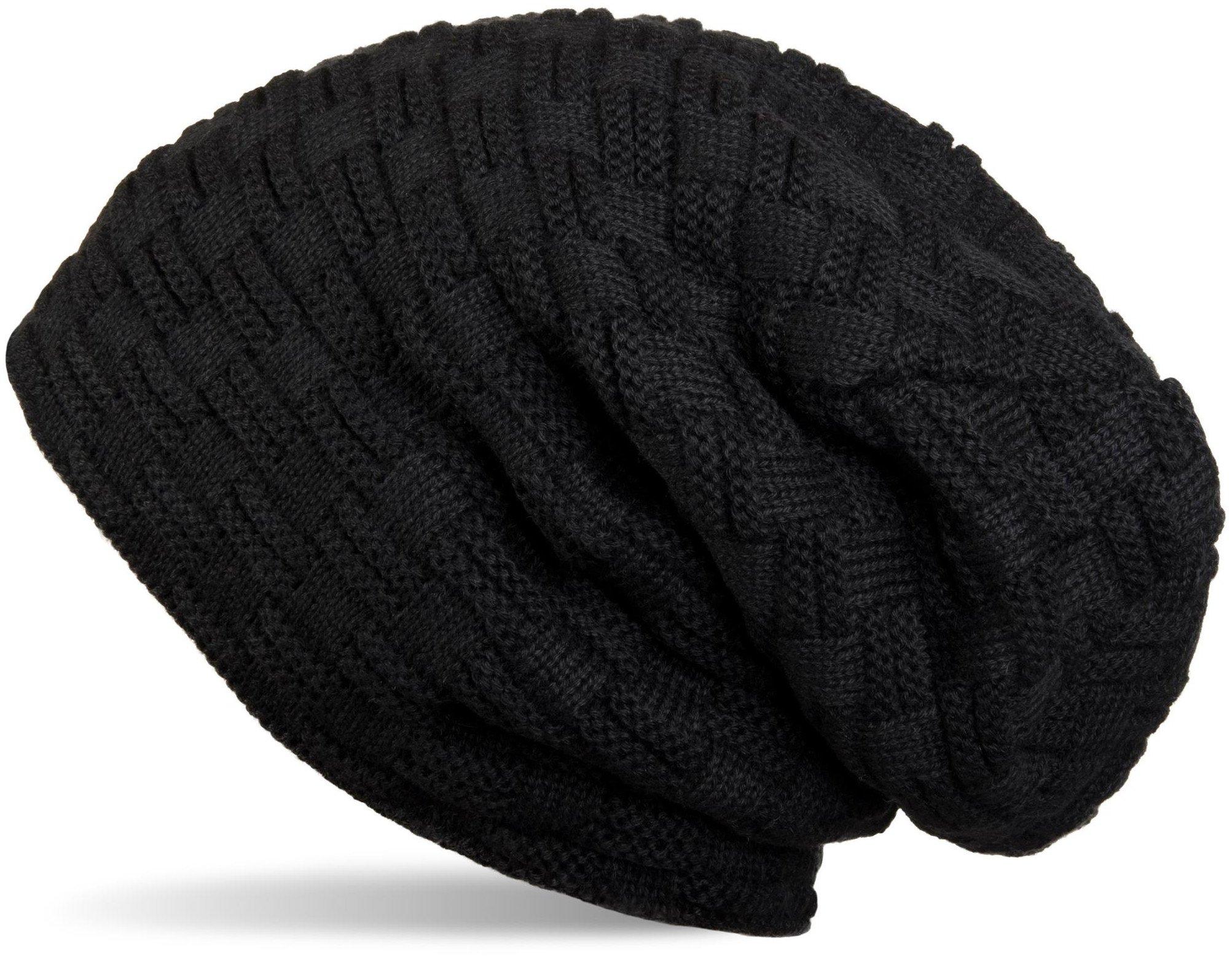 d7684810dc styleBREAKER Chaud Bonnet de Fin Tricot Motif de Tresse Doublure en Polaire  très Doux, Toque