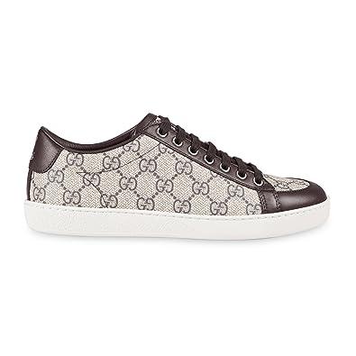 eaddb5e773a Amazon.com  Gucci Women s GG Supreme Canvas Trainer Sneaker