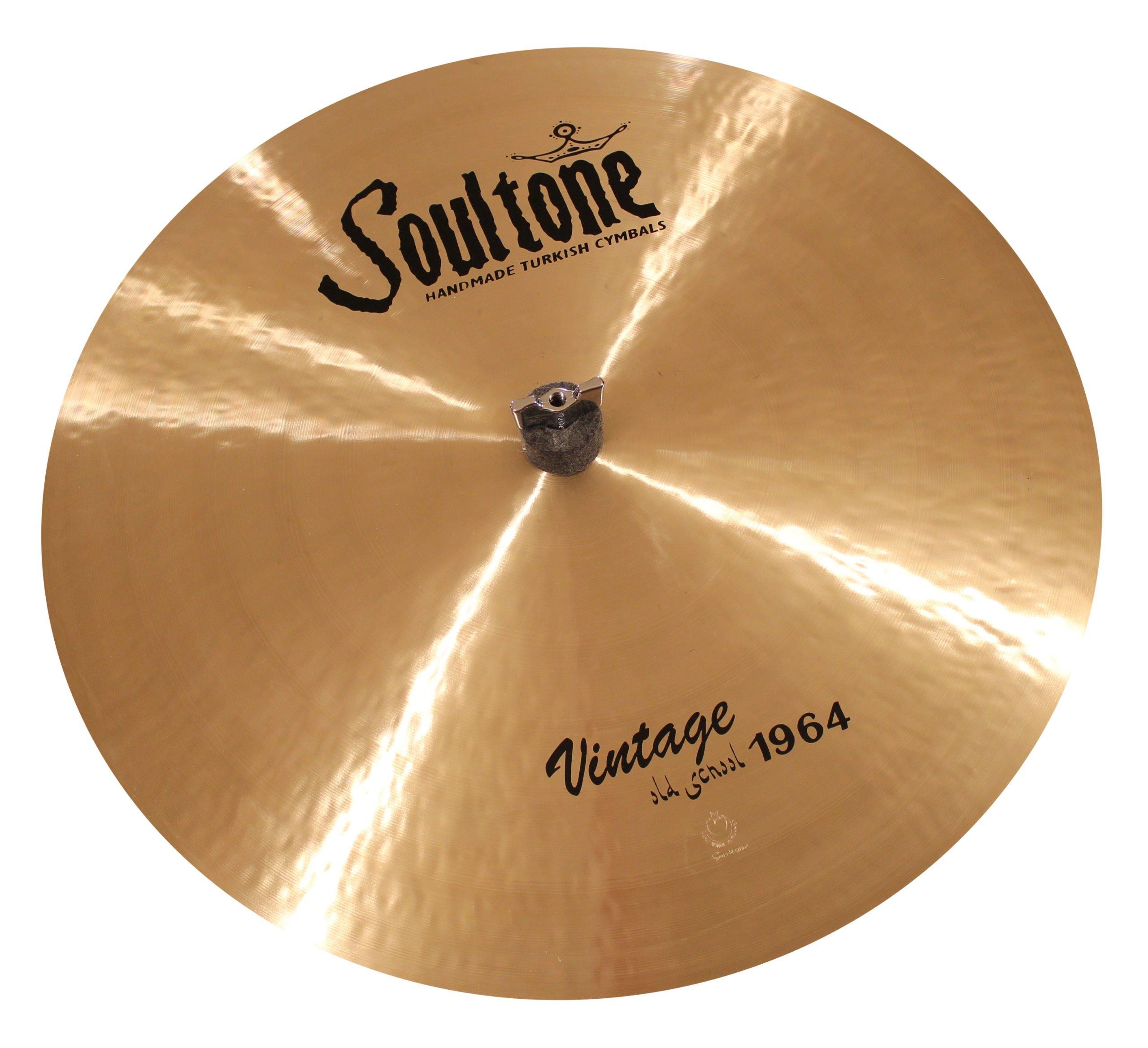 Soultone Cymbals VOS64-FLR26-26'' Vintage Old School 1964 Flat Ride by Soultone Cymbals