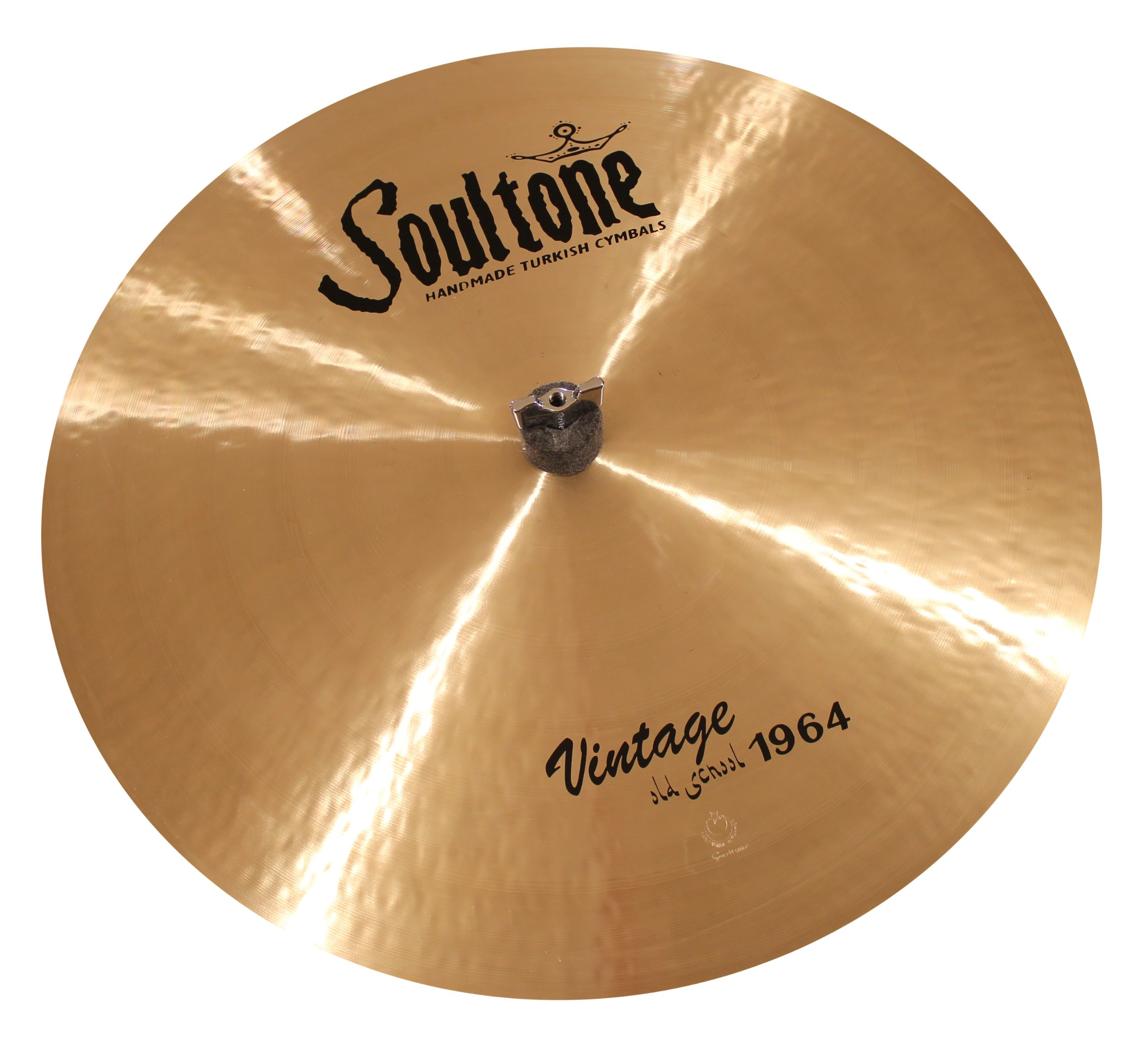 Soultone Cymbals VOS64-FLHHTT14-14'' Vintage Old School 1964 Flat Hi Hat Top Only