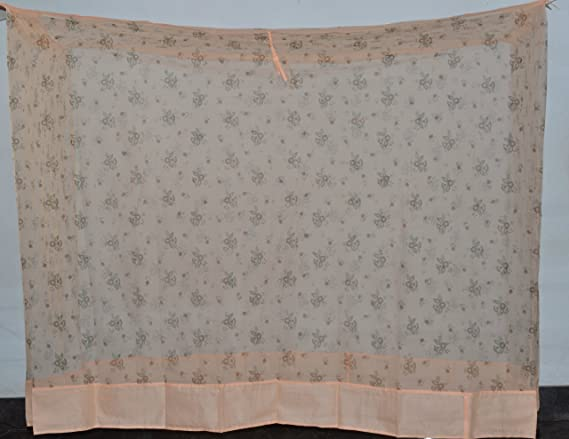 Fashion Centre Polyster Printed Mosquito net 5*6.5ft, Peach