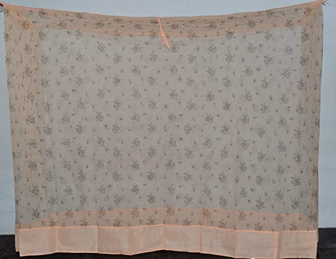 Fashion Centre Polyster Printed Mosquito net 4.5*6.5ft, Peach