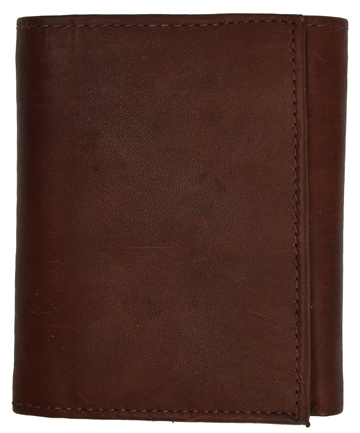 Cowhide Leather Extra Capacity Trifold Wallet with Detachable ID Flap by Marshal