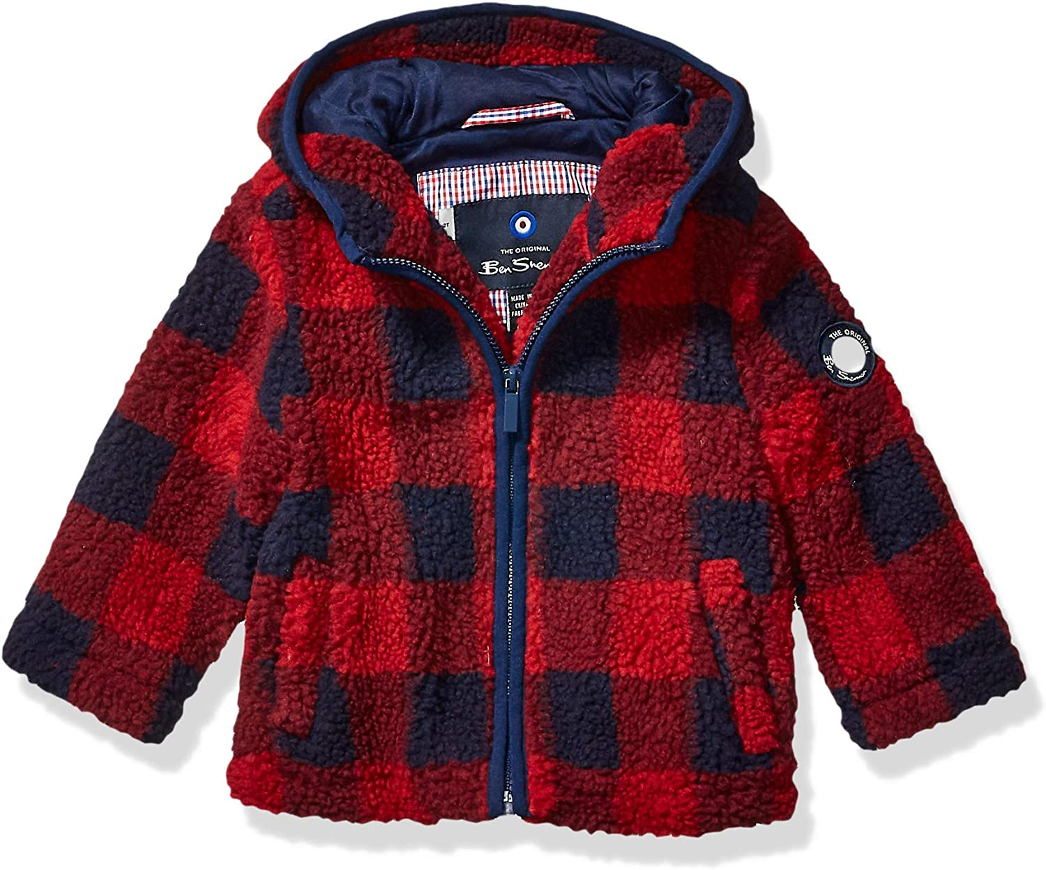 London Fog Toddler Boys Red Midweight Coat W//Sherpa Lining Size 2T 3T 4T
