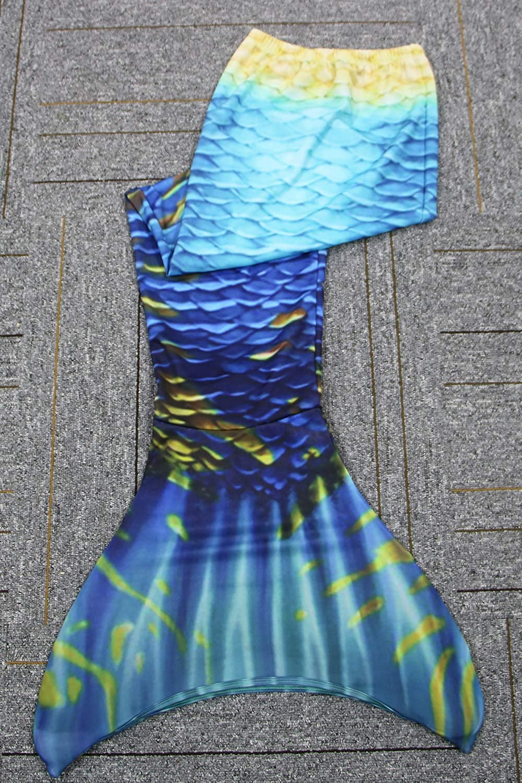GNFUN Meerjungfrauenschwanz zum Schwimmen mit Meerjungfrau Flosse 110-170cm H/öhe,GeeiGNFUNet f/ür M/ädchen und Erwachsene