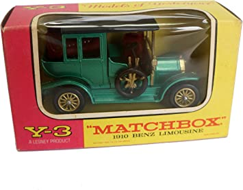 Models Of Yesteryear Vintage 1969 Matchbox 1 54 Scale Diecast Replica Y 3 1910 Benz Limousine Motor Car In The Original Box Amazon Co Uk Toys Games