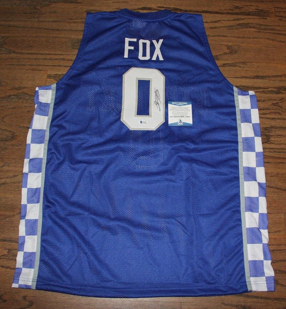 De'aaron Fox Signed Autographed Auto Jersey Bas Witnessed Kentucky Wildcats Beckett Authentication