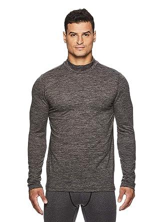 f42cb49ac20 HEAD Men's Compression Workout Shirt - Long Sleeve Mock Neck Base Layer  Activewear Top - Digi
