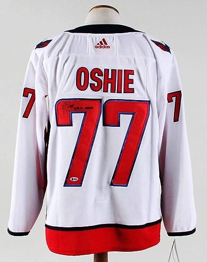 b06cd353b T.J. Oshie Signed Jersey Capitals - COA Beckett at Amazon s Sports ...