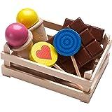Haba 300562 - Gioco di imitazione, Cestino con dolcetti, in legno
