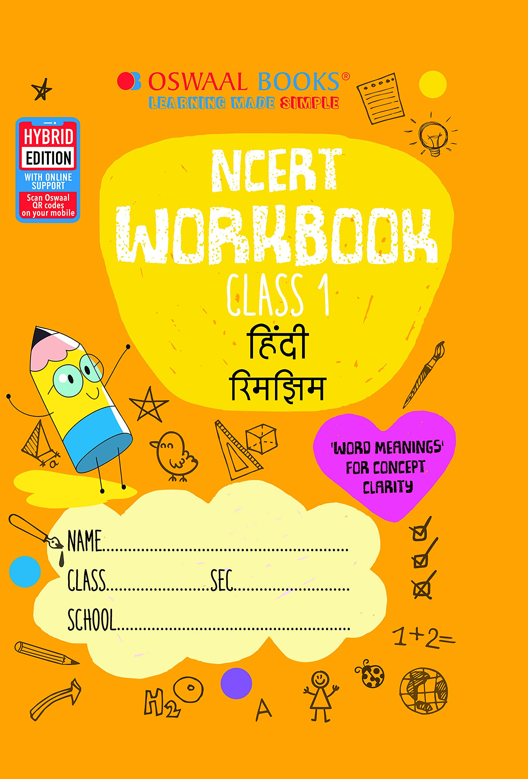 Oswaal NCERT Workbook Class 1, Hindi (For 2022 Exam)