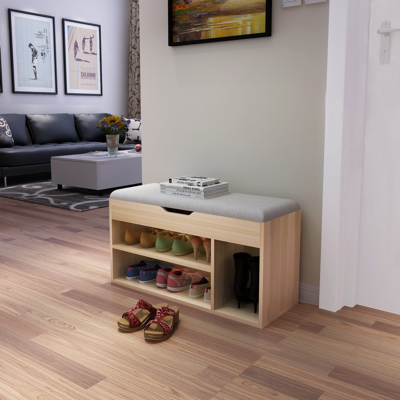 Amazon.com: Soges Shoe Bench With Storage Box Hall Rack, Gray M018 HS:  Kitchen U0026 Dining