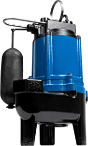 Little Giant 14942673 LG-SEW50SA 1/2 hp Cast Iron Sewage Pump with Snap-Action Switch, Blue