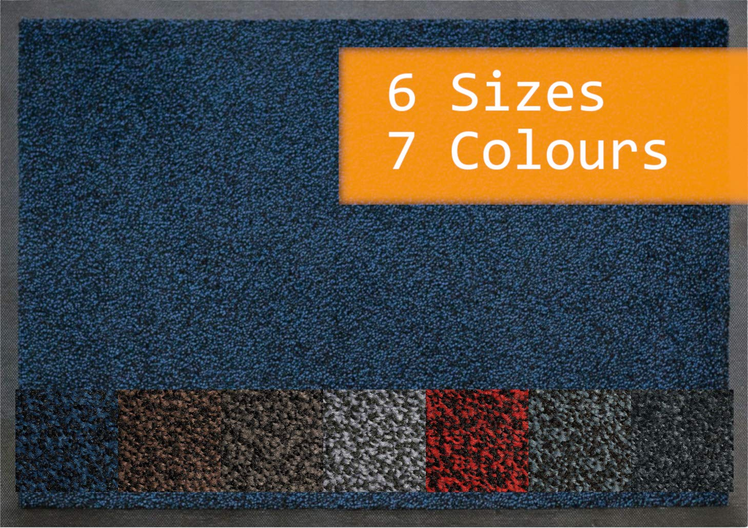The No 1 Commercial Door Mat 60 x 85 cm Morland Access Duo NITRILE RUBBER BACKING Black Blue