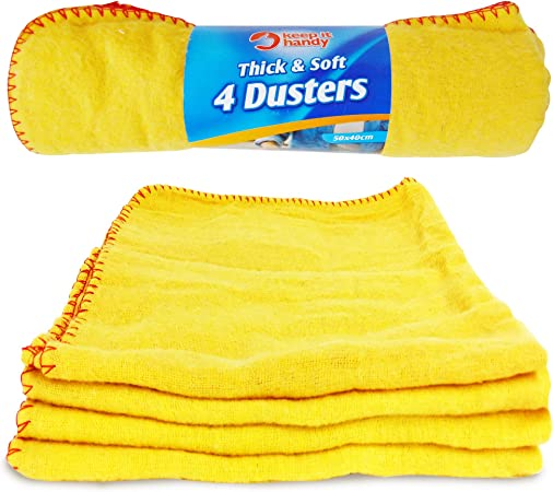 28cm x 33cm EGYPTO Yellow Dusters Cleaning Cloth 100/% Cotton Extra Strong 10 PACK